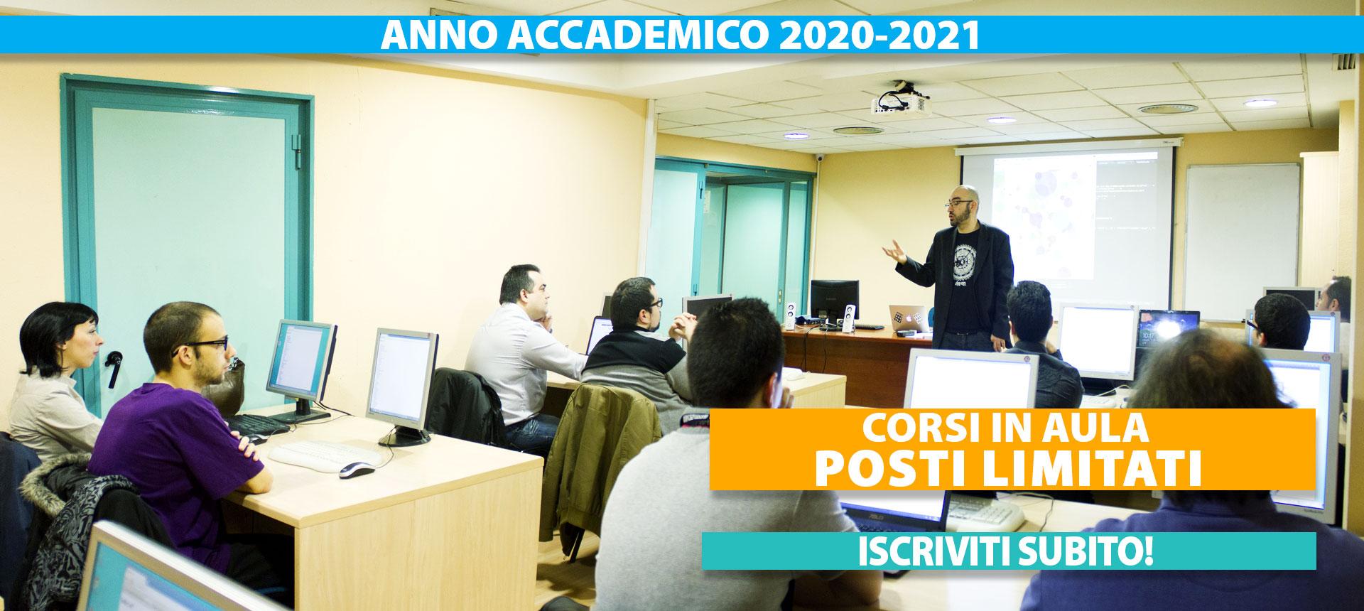 corsi in aula anno accademico 2020-2021
